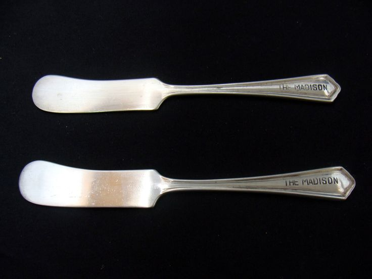 Vintage the madison hotel silverplate-madison hotel flatware-old madison hotel silverplate-madison motel silverplate knife by BECKSRELICS on Etsy