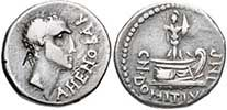 Gnaeus Domitius Ahenobarbus accompanied his father at Corfinium and Pharsalus on the side of Pompey. After his pardon by Julius Caesar, he retired to Rome in 46 BC. After Caesar's assassination, Ahenobarbus supported Brutus and Cassius, and in 43 BC was condemned under the terms of the Lex Pedia for complicity in the assassination.