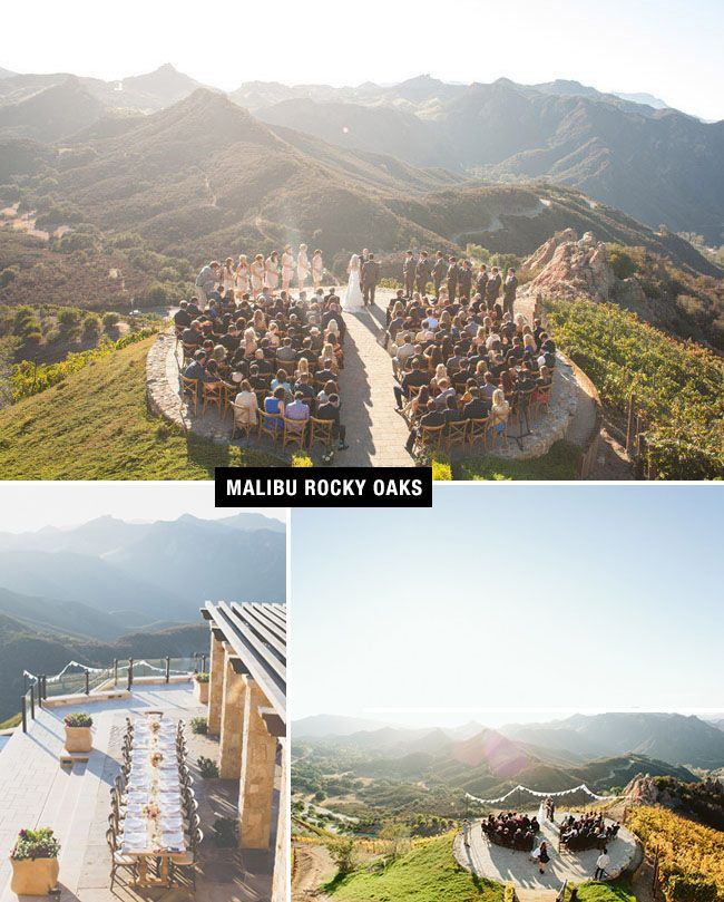 Malibu Rocky Oaks wedding venue that is surrounded by the Santa Monica Mountains