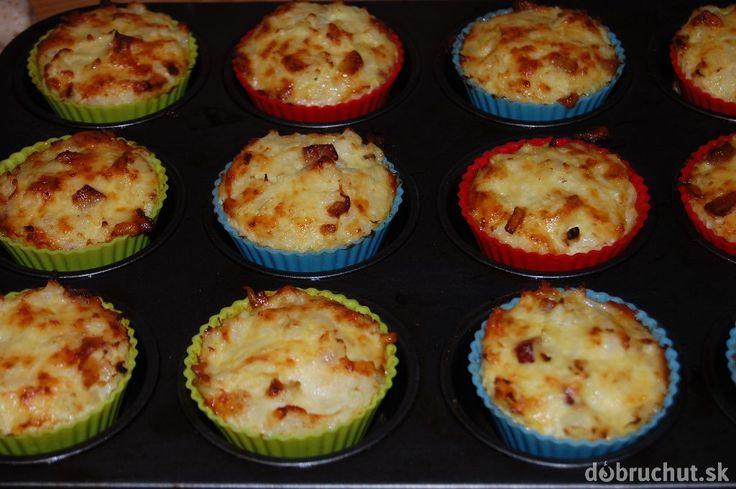 Fotorecept: Zapekaný syr s karfiolom ako muffiny