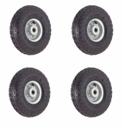 kit 4 pneus roda câmara 3.50-4 rolamento 3/4 skate carrinho