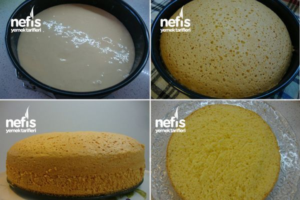 Sünger Pandispanya Keki (Pasta Keki Tarifi) 2