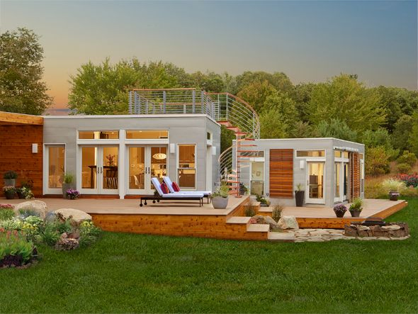 25 best ideas about modern prefab homes on pinterest for Modular pool house