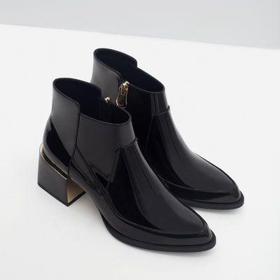 Image 5 of HIGH HEEL PATENT BOOTIES from Zara
