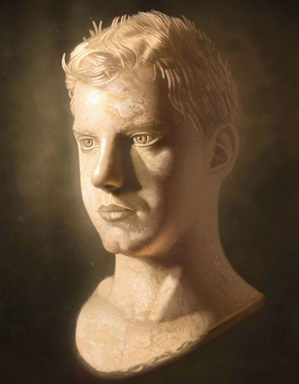 В этом уроке вы узнаете, как нарисовать портрет, а затем придать ему вид мраморной статуи.