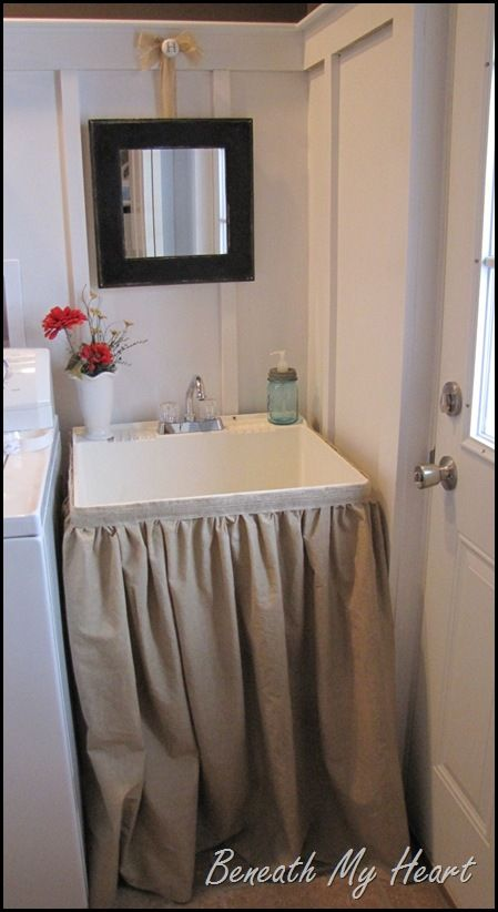 Bathroom Sink Jammed the 25+ best utility sink skirt ideas on pinterest | utility sinks