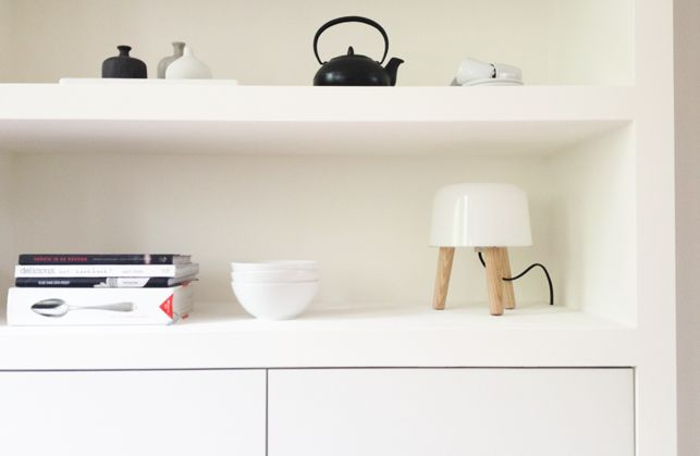 Mooie inbouwkast met Besta Ikea kastjes - klik op foto voor werkbeschrijving…
