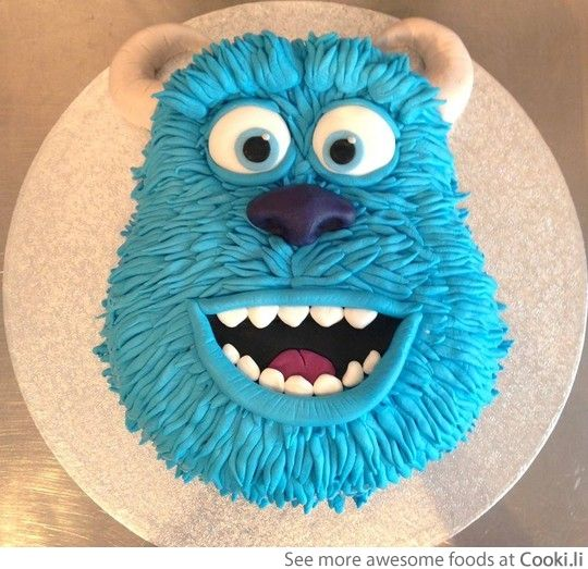 Disney's Monster's cake  See More at http://www.cooki.li/ -