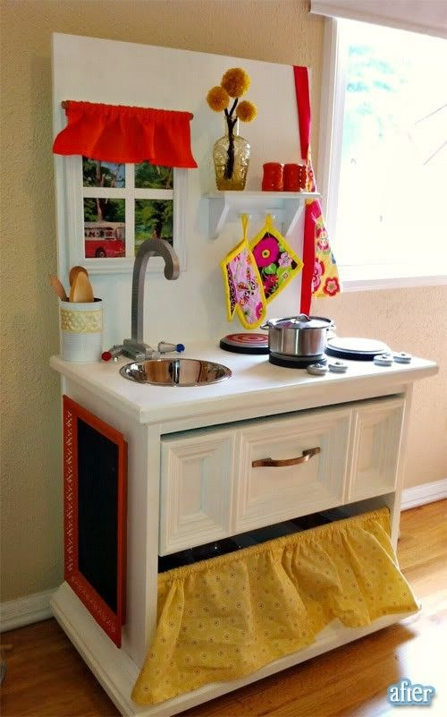 26 best images about make believe on pinterest cardboard for Diy play kitchen ideas