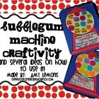 Gumball Machine Craftivity - Amy Lemons (For teaching adjectives, synonyms, contractions, compound words, etc.)