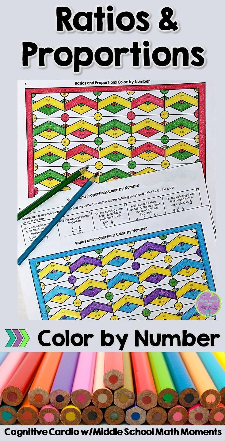 Try This Self Checking Color By Number To Help Your Students Practice Ratio And Proportion Concepts Ma Ratios And Proportions Free Math Lessons Math Coloring