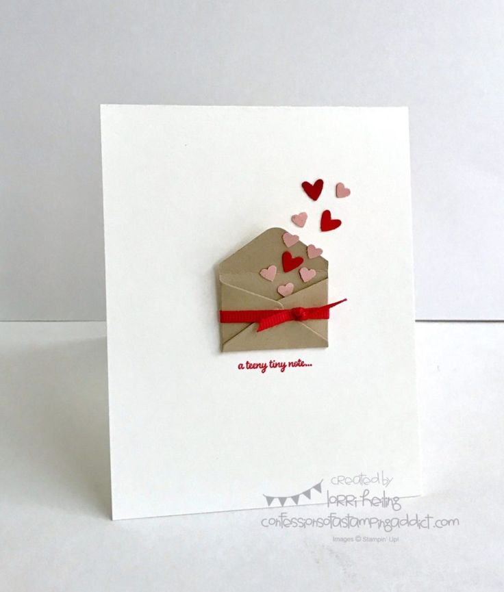Simple Little Valentine :: Confessions of a Stamping Addict
