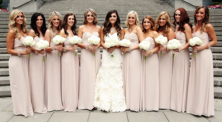 Gorgeous bridesmaid dress... you have to be tan to rock it, but this is Jersey after all #CupcakeDreamWedding