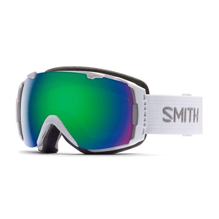 Men's Smith Goggles - Smith I/O Goggles. White - Green Solex