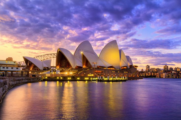 Sunset in Sydney during the blue hour