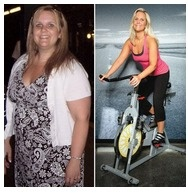 Biggestloser lady on exercycle.