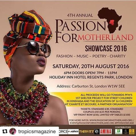 #AFRICANDOERS | Passion For Motherland Returns To London https://tropicsmag.wordpress.com/2016/07/20/passion-for-motherland-returns-to-london/ via @TropicsMagazine