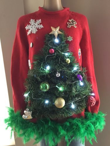 Light Up Ugly Christmas Sweater