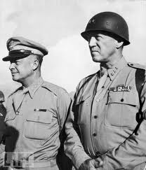 Dwight Eisenhower and George Patton.