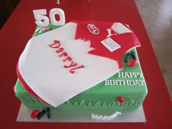 Sydney Swans themed cake