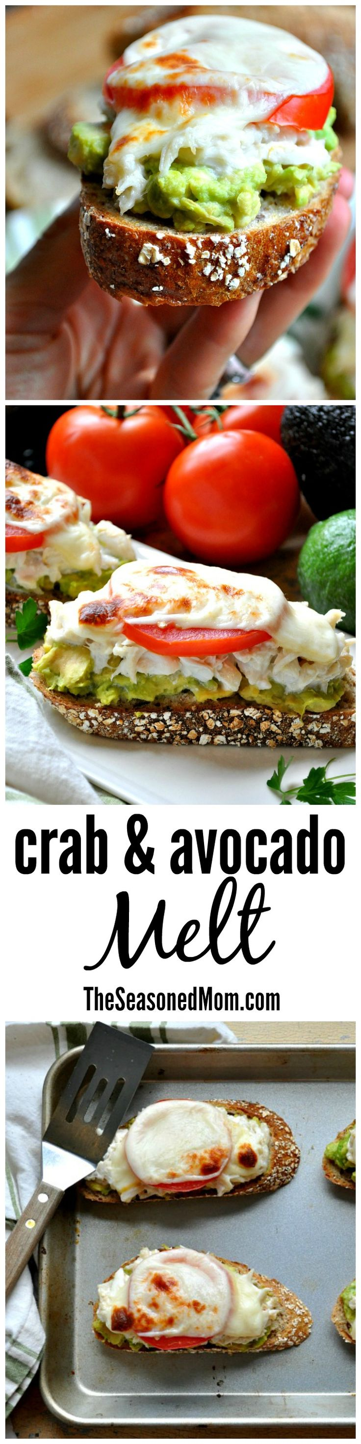 An upgrade on the classic tuna melt, this Crab and Avocado Melt is simple, fresh, and FAST! Make it small for a party appetizer, or serve a larger version for an easy lunch or weeknight dinner! #LifesBetterWithTheLion #ad