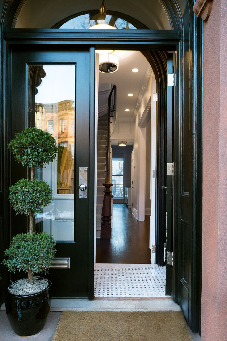 The entrance to this gorgeous five story Park Slope brownstone. by Chango & Co.