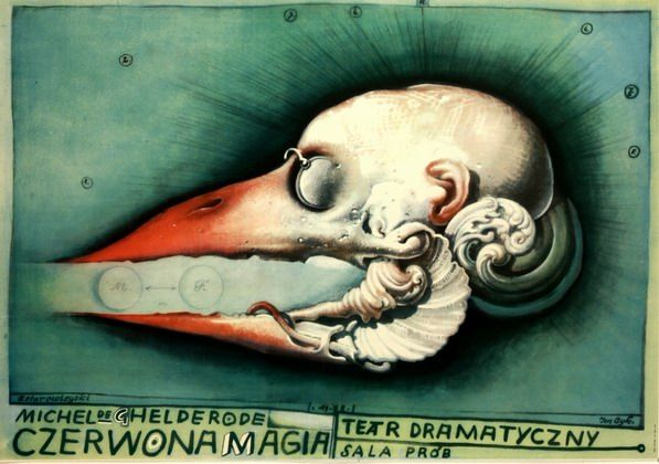 Red Magic Czerwona Magia Starowieyski Franciszek Polish Poster