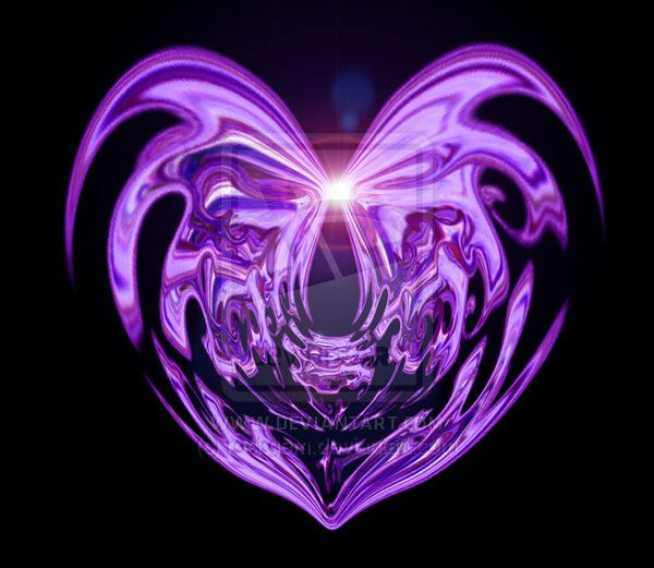 Purple Heart, digital art by rock gem