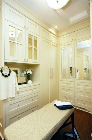 walk in wardrobe room - cream