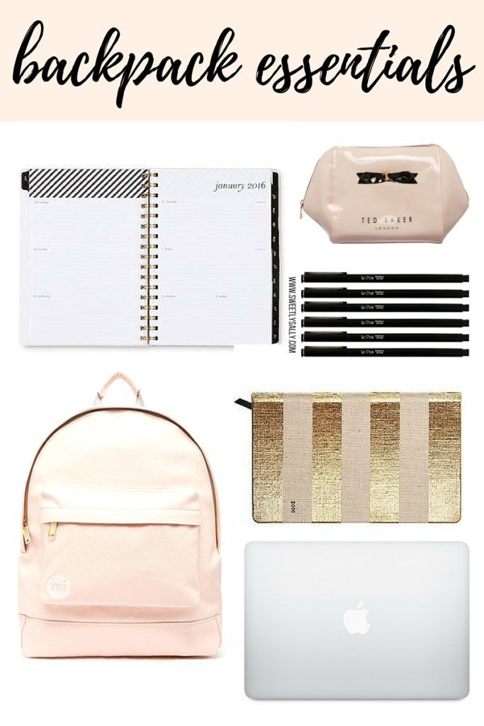 Backpack Essentials: Perfect for high school, college, or even middle school!