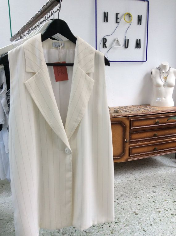 Winter Sale Women blazer sleeveless blazer loose fit by JojoBlanc