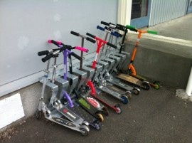 Scooter rack