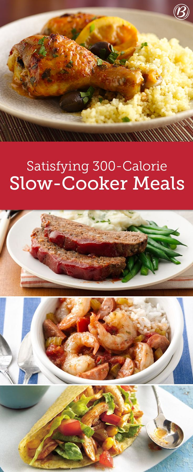 These suppers are everything you're craving—filling, warming and undeniably delicious—with the bonus being 300 calories or less per serving. Better yet, they're made in your slow cooker for a no-fuss meal that cooks while you're away.