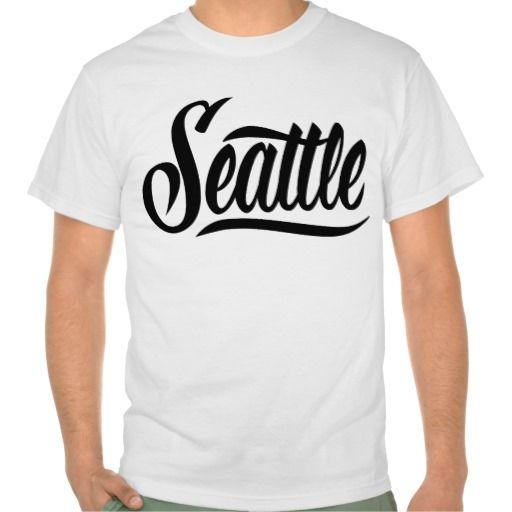 Seattle T-shirts  #Seattle #lettering #LetterHype