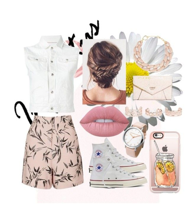 """""""Bamboo Print"""" by teri-bear on Polyvore featuring Topshop, R13, Converse, Lime Crime, Casetify, New Look, DIANA BROUSSARD and GUESS"""