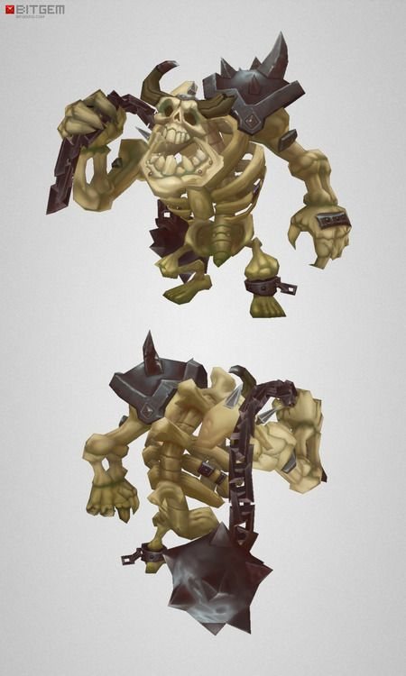 Low Poly Skeleton Grunt … one of my favorites so far :D