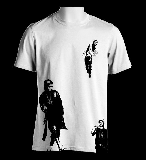 Hey, I found this really awesome Etsy listing at https://www.etsy.com/listing/476193281/asap-rocky-silhouette-white-t-shirt