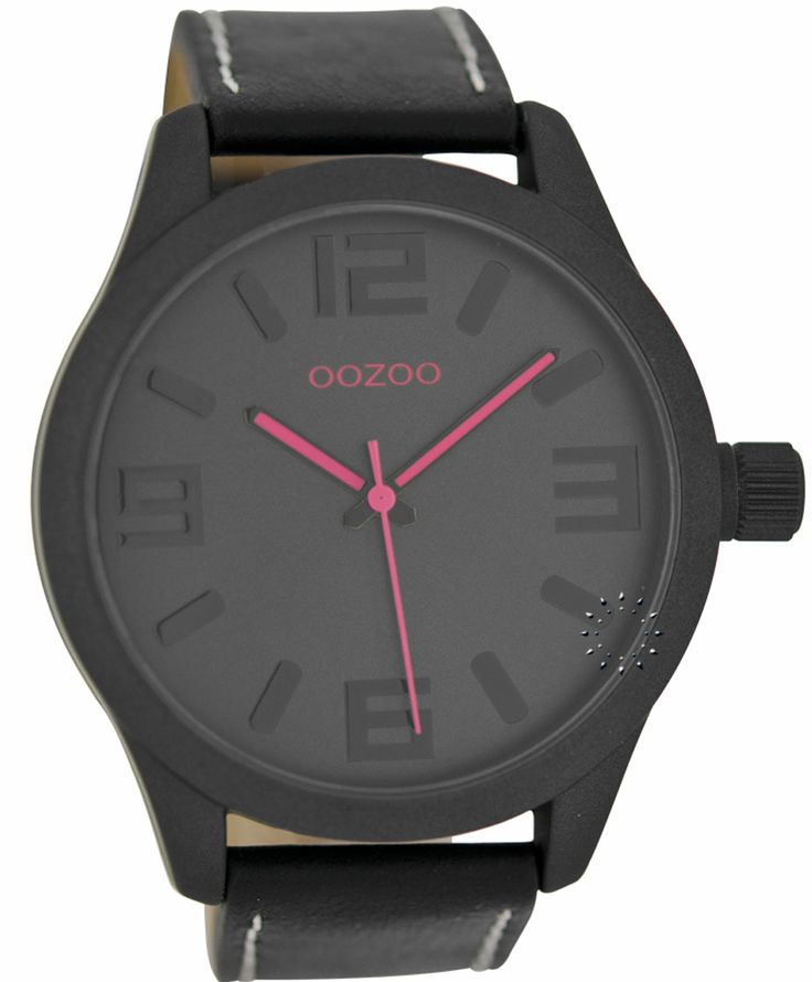 OOZOO Τimepieces Black Leather Strap Μοντέλο: C6279 Η τιμή μας: 69€ http://www.oroloi.gr/product_info.php?products_id=36173
