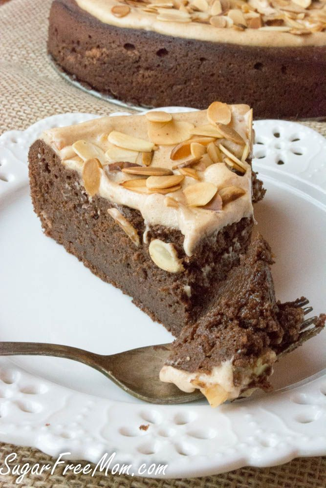 Sugar Free Flourless Chocolate Almond Torte, grain free, low carb- sugarfreemom.com