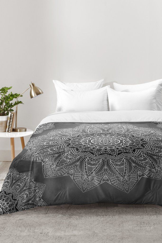 Monika Strigel SERENDIPITY BLACK Comforter  Black ComforterSerendipityDecor. Best 25  Black comforter ideas on Pinterest   Black bedding  Black