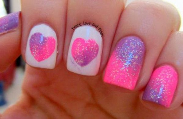 cute nail deasing sweet valentimes | ... Nail Art Design For Valentine's Day ‹ ALL FOR FASHION DESIGN