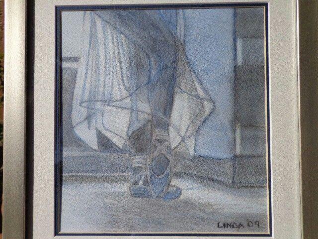Charcoal and watercolour wash - Linda