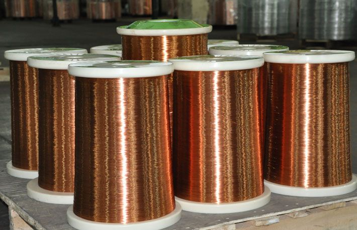 Our Enameled Round Copper Wire is one kind of enameled wire which has high heat resistance. Its temperature class can be from 130℃ to 220℃. Our Enameled Round Copper Wire has excellent thermodynamic property, good mechanical abrasion resistance and good chemical resistance.