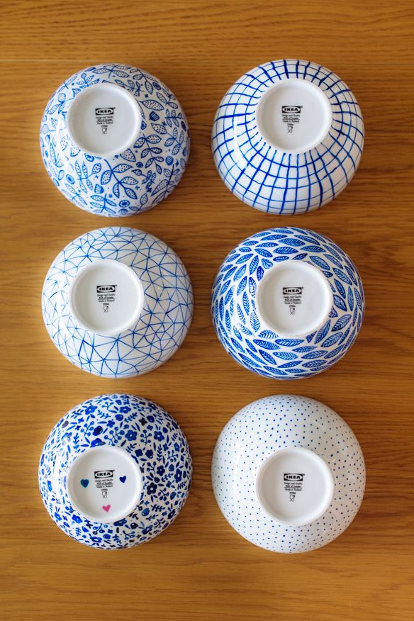 IKEA Project 3: Dining Room – DIY Painted bowls - fellowfellow