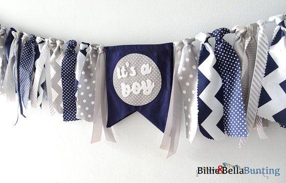 Baby Boy Shower decorations Its a boy banner by BillieBellaBunting