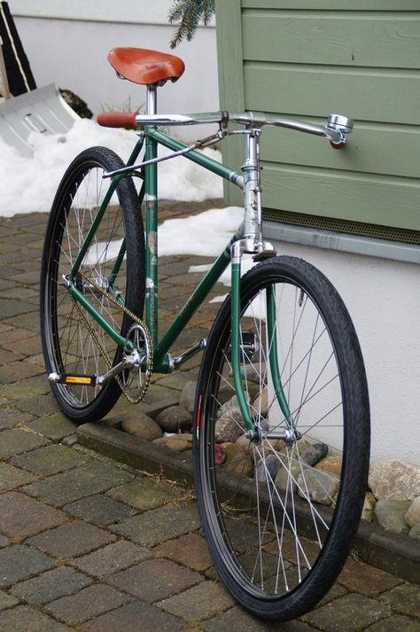 MIFA Halbrenner 28 Zoll 1956 Retro Vintage Fahrrad, Siglespeed NEUAUFBAU