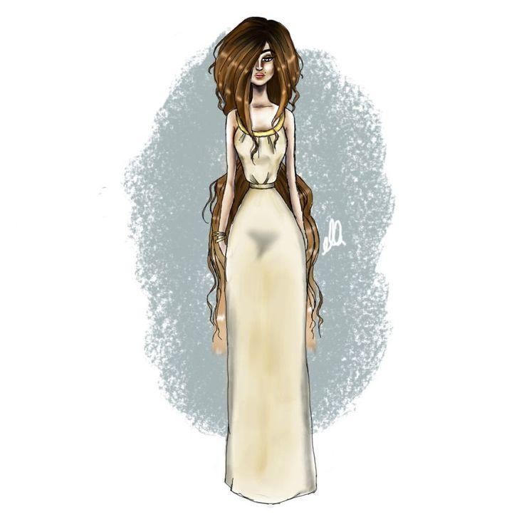 fashion illustration maxi dress