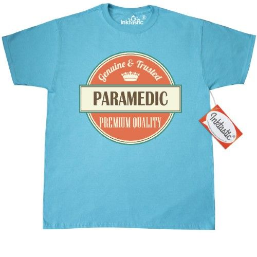 Inktastic Paramedic Funny Gift Idea T-Shirt Retired Occupations Job Vintage Logo Clothing Classic Career Mens Adult Apparel Tees T-shirts Hws, Size: XXXL, Blue