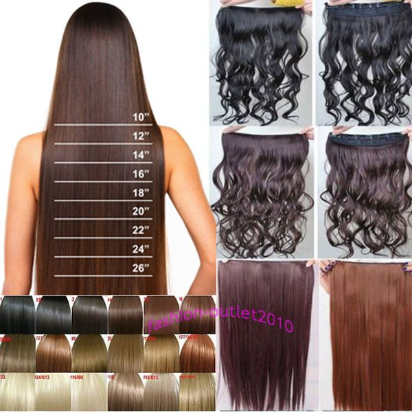 Best 25 one piece hair extensions ideas on pinterest sunflower 34 full head one piece clip in hair extensions straight curly great hair salon pmusecretfo Image collections