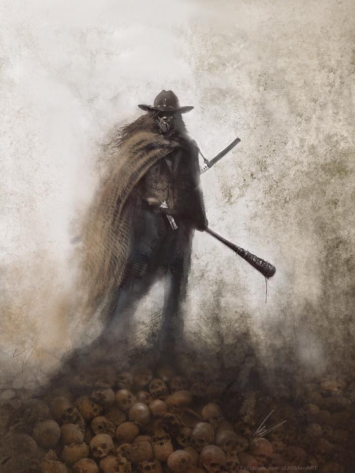 Grown-Up Carl Grimes Realized in Walking Dead Concept Art by UK artist M.J. Hiblen